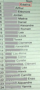 liste classe 4