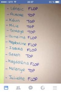 liste de classe