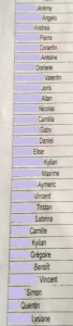 liste classe 2