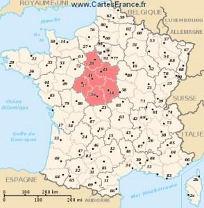 La région Centre, comme son nom l'indique, est au Centre de la France. C'est bien foutu quand même...