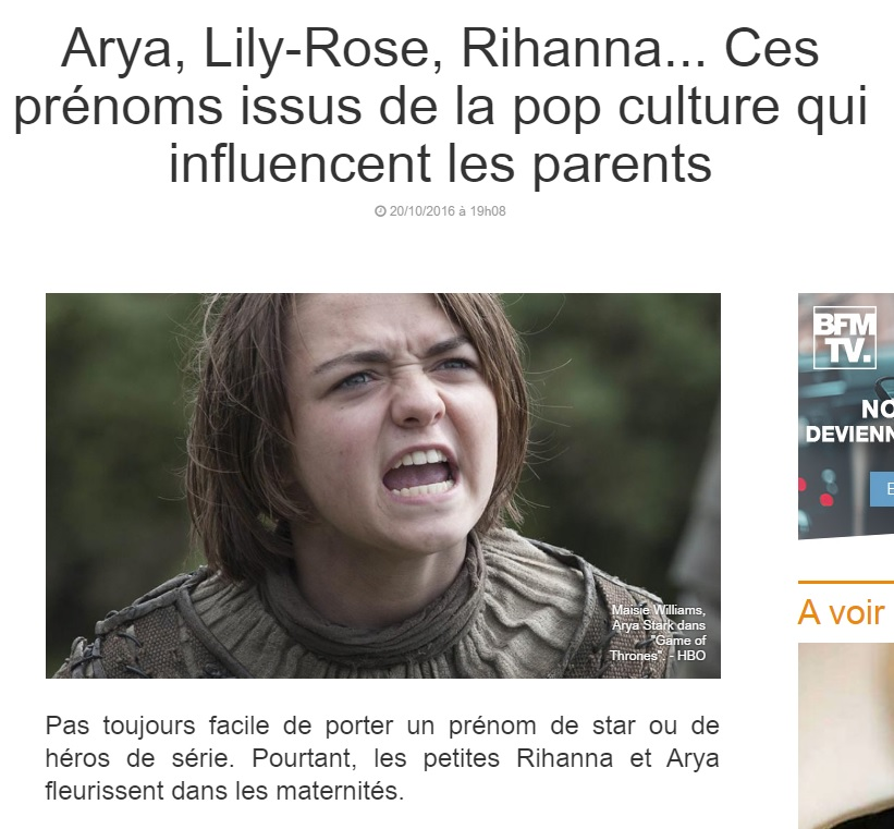 Lu arya lily rose rihanna ces pr noms issus de la pop culture qui influencent les parents - Lily rose prenom ...