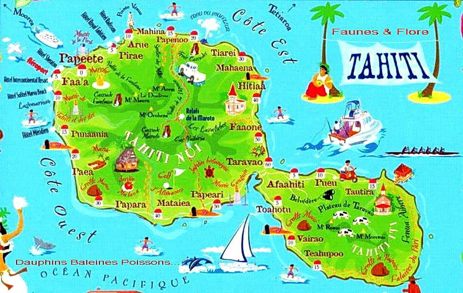 carte-de-tahiti - Photo